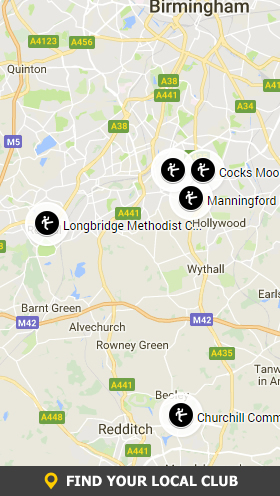 Central England Kung Fu Clubs Map